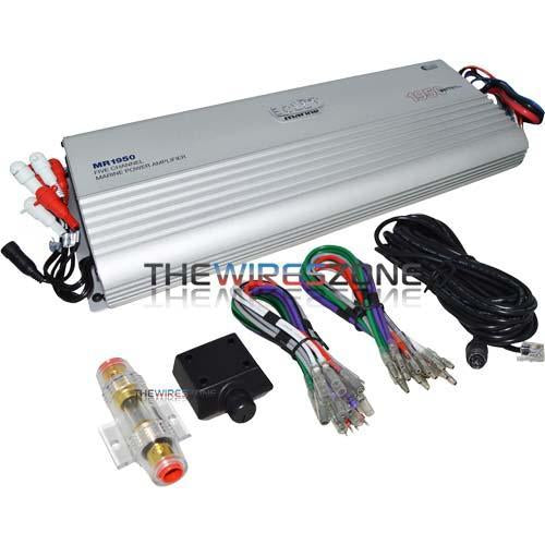 Boss Audio MR1950 5-Channel AB Class 1950 Watt Power Marine Amplifier (3839206031424)