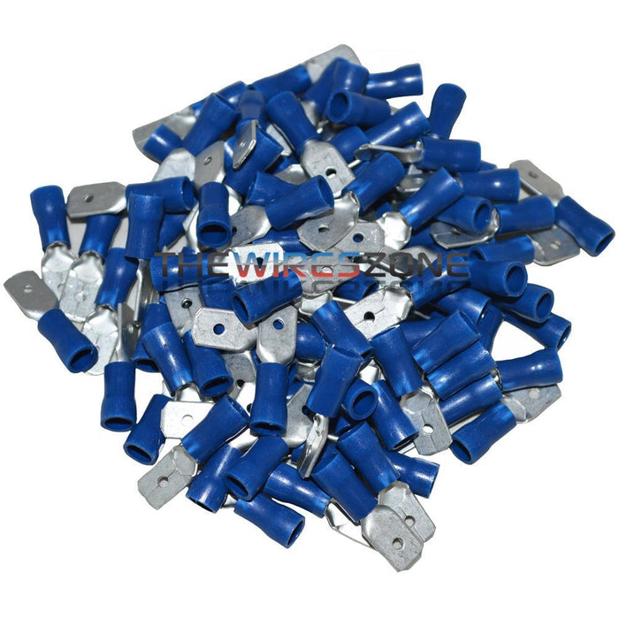 Install Bay BVMD250 Blue 16-14 Gauge .250 Male Quick Disconnect 100/pk (3839227330624)