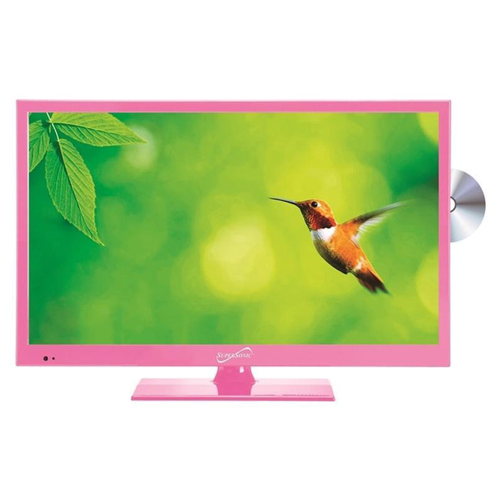 "Supersonic SC-1512PK Pink 15.6"" LED Widescreen HDTV with DVD Player (3839261835328)"