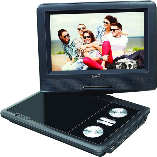 "SuperSonic SC-257 7"" Portable DVD Player and Digital TV with USB ,SD inputs and Swivel Display"