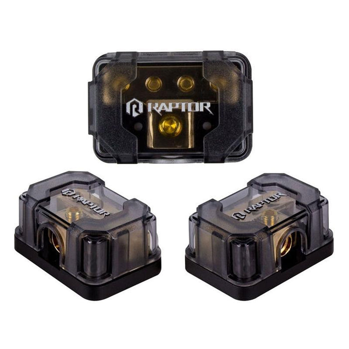 Raptor R4DB1 Gold 4-Position 4/8 Gauge Ground Distribution Block (3839298142272)