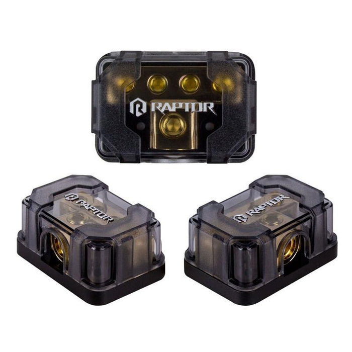 Raptor R4DB2 Gold 4-Position 1/0/4/8 Gauge Ground Distribution Block (3839298240576)