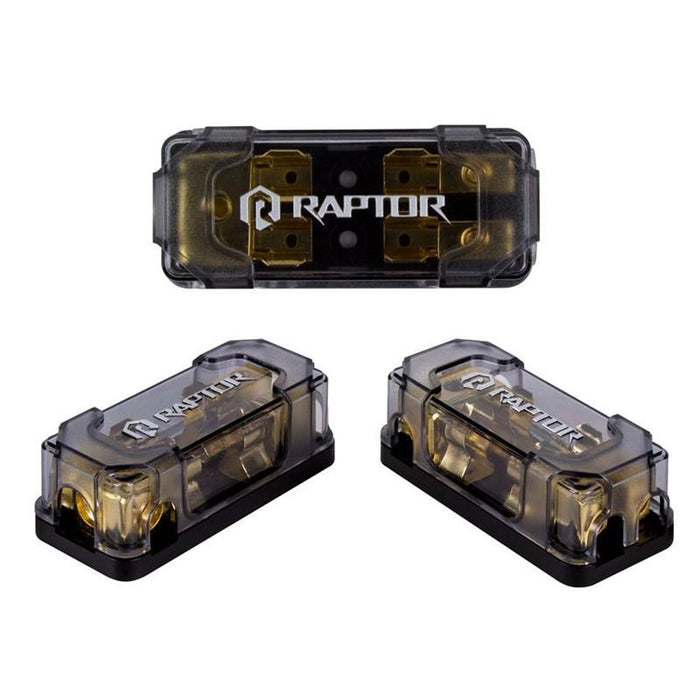 Raptor R42AGU 2-Position Gold 4/8 Gauge AGU Fused Distribution Block (3839298469952)