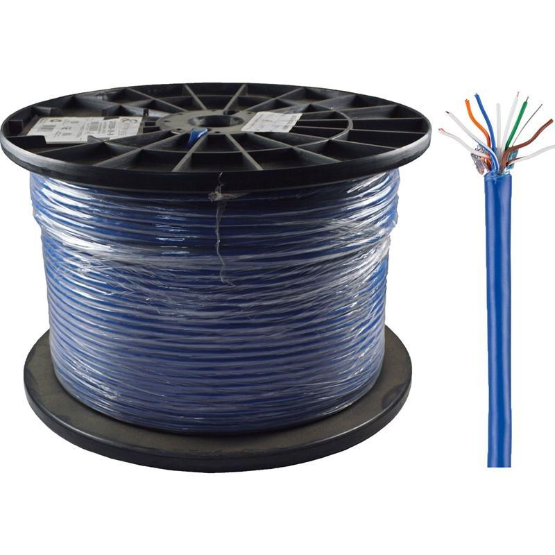 Ethereal CAT5E350-SH-B CAT5 24/4 Pair 350MHz 1000' Shielded Blue Cable (3839311282240)