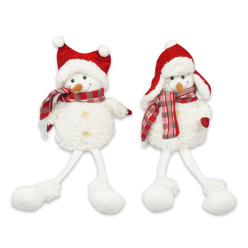 "23"" Christmas Sitting Snowman Indoor/Outdoor Decoration 2 Assortments"
