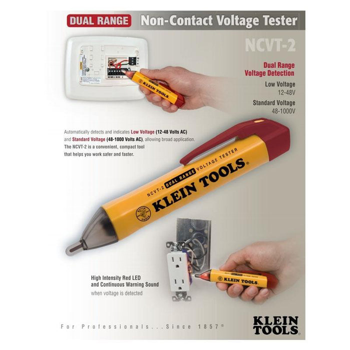 Klein Tools NCVT-2 Dual Range Non-Contact Electrical Voltage Tester