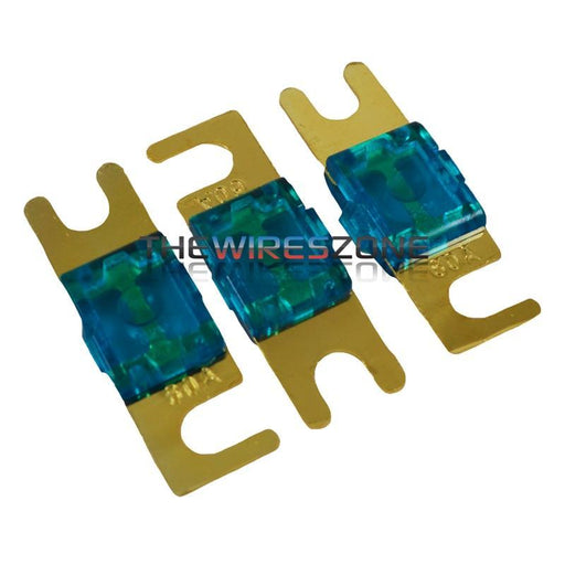 High Quality Gold Plated Inline 60 Amp Mini ANL Fuse (3/pack)
