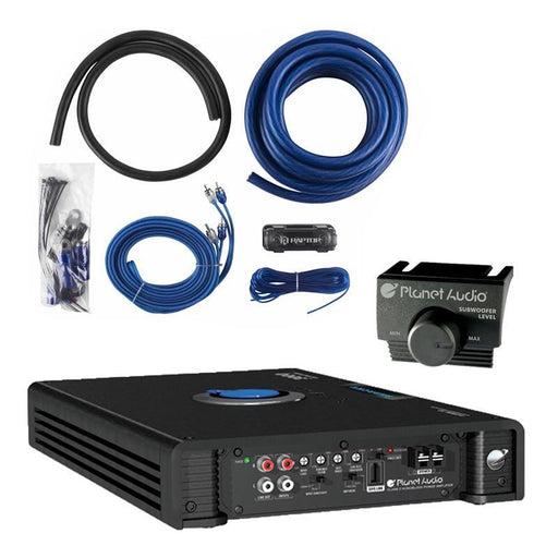Planet Audio AC3000.1D 3000W Monoblock Car Amplifier + 1/0 AWG Amp Kit (3839322062912)