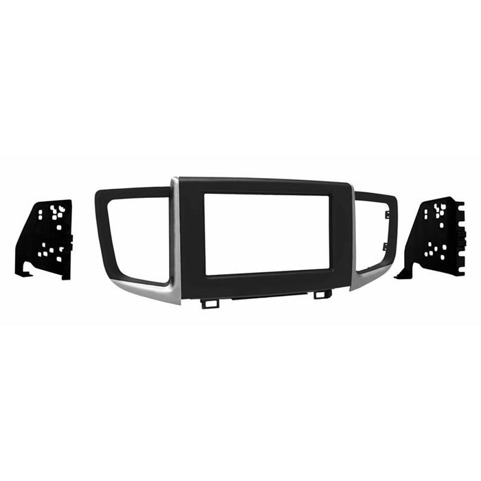 Metra 95-7811B Matte Black Double DIN Dash Kit for 2016-up Honda Pilot (3839324749888)