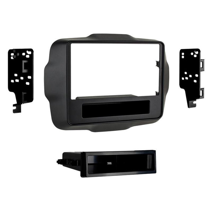 Metra 99-6532B Black Single DIN Dash Kit for 2015-up Jeep Renegade (3839326453824)