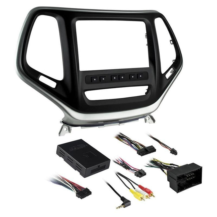 Metra 99-6526S Silver Double DIN Dash Kit for Select Jeep Cherokee