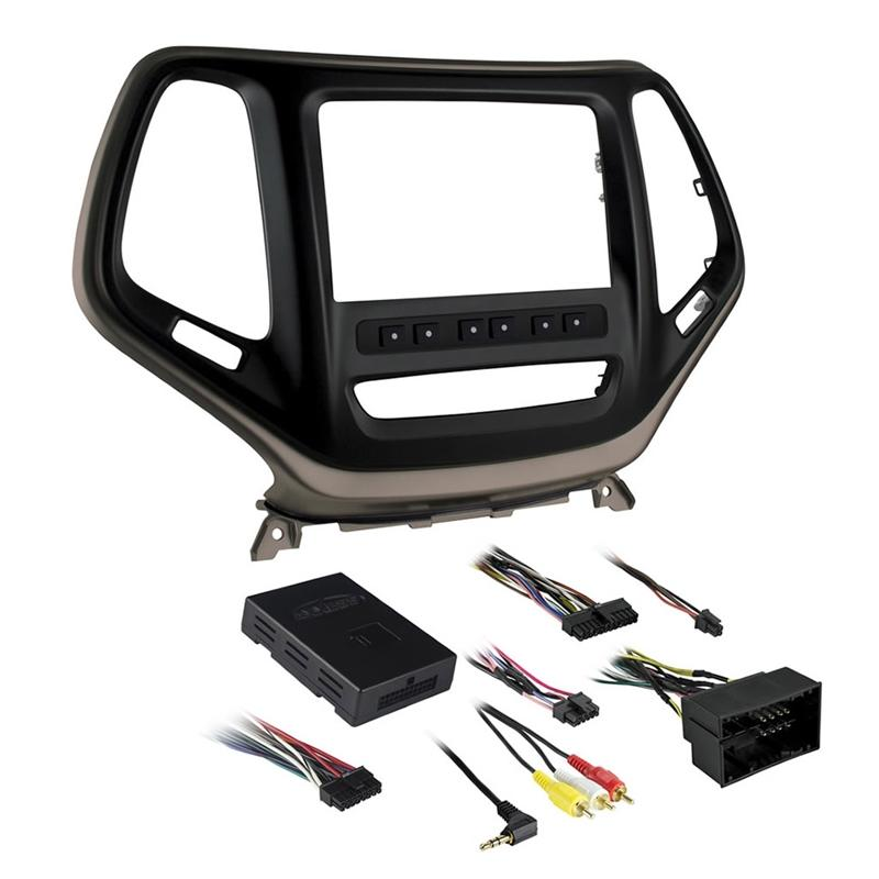 Metra 99-6526BZ Bronze Double DIN Dash Kit for Select Jeep Cherokee (3839353126976)