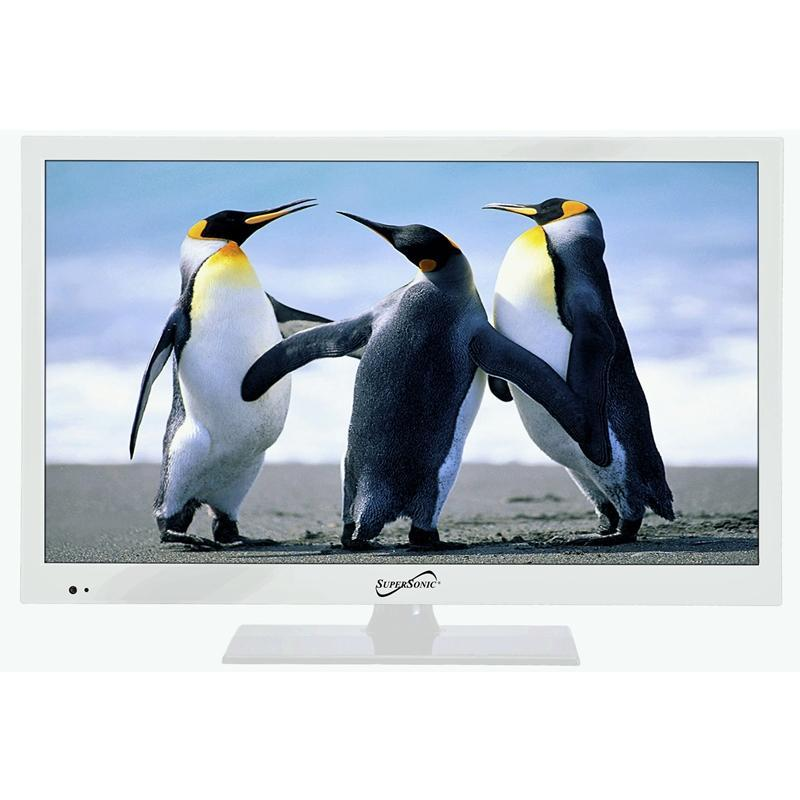 "Supersonic SC-1511 White 15.6"" LED Widescreen HDTV w/ HDMI Input (3839434457152)"