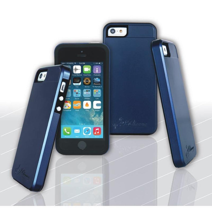 J. Ohanna Shock Absorbent Durable Dark Blue Smart Case for iPhone 5/5s (3839445172288)