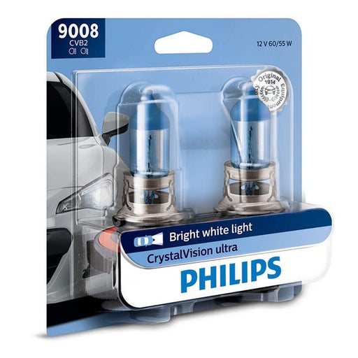 Philips 9008 H13 Crystal Vision Ultra Xenon Look Headlight Bulb (pair) (3839482593344)
