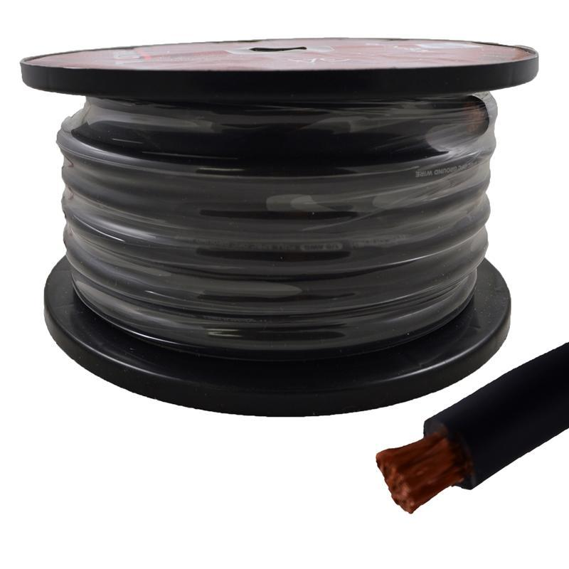 1/0 Gauge 50ft 100% Copper Flexible Power Wire Cable True Spec Black (3839534923840)