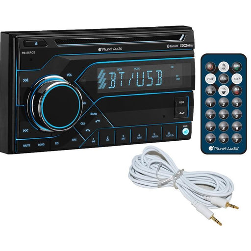 Planet Audio PB475RGB CD MP3 USB AM/FM Bluetooth Car Stereo + Free AUX (3839569231936)