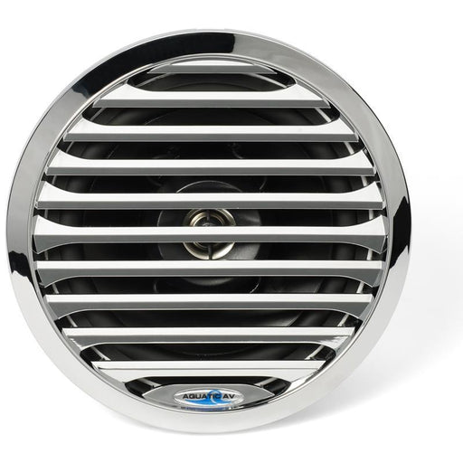 "Aquatic AV AQ-SPK6.5-4L Chrome 6.5"" Waterproof LED Marine Speaker pair (3839576047680)"
