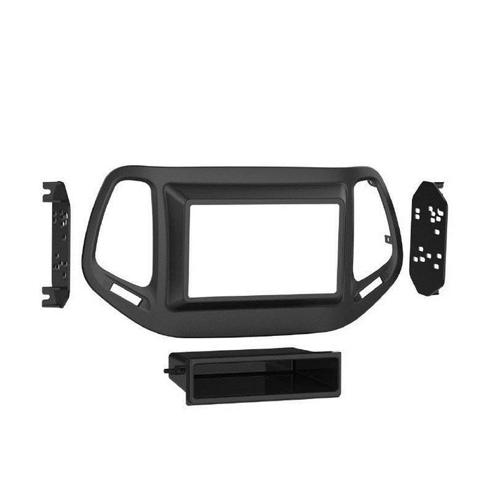 Metra 99-6545B 1 or 2-Din Dash Kit 2017.5-up Jeep Compass(Sport trim) (3839612944448)