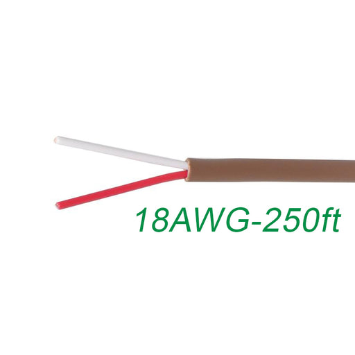 18-2 Thermostat Wire 18-Gauge Copper CMR Heating AC HVAC Cable 500FT (3839637389376)