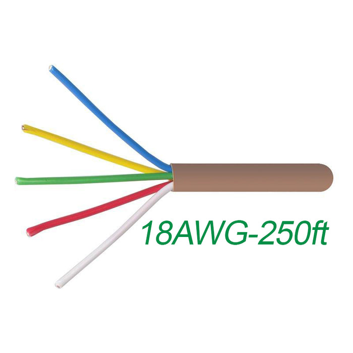 18-5 Thermostat Wire 18-Gauge Copper CMR Heating AC HVAC Cable 500FT
