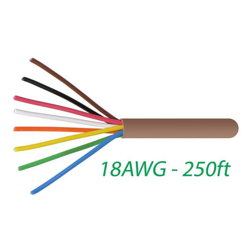 18-8 Thermostat Wire 18-Gauge Copper CMR Heating AC HVAC Cable 250FT (3839638306880)