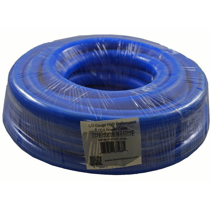 1/0 Gauge 25 Feet High Performance Amplifier Power/Ground Cable (Blue) (3839647842368)