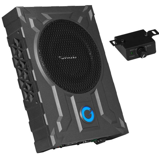 "Planet Audio PA8W Low Profile 8"" Amplified Subwoofer 800W + Amp Kit (3839654101056)"