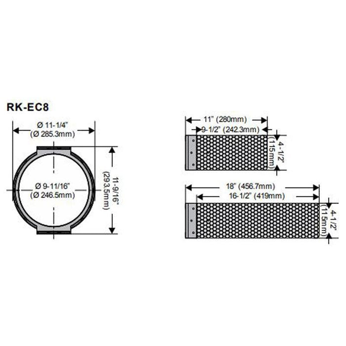 "RK-EC8 In-Ceiling Bracket Rough-In Kit(pair) for 8""In-Ceiling Speakers (3839671992384)"