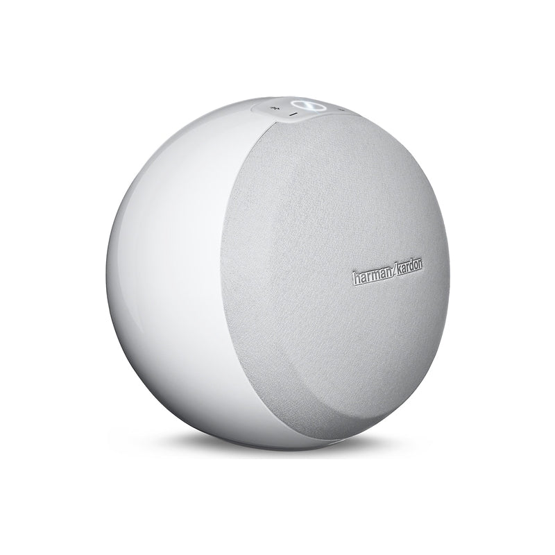 Harman Kardon Omni 10 Wireless Wi-Fi Bluetooth Smart HD Speaker(White) (3839673663552)