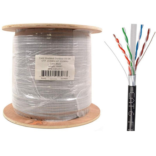 Cat6 STP FTP Outdoor Shielded Network UV Direct Burial 1000ft Cable (3839680053312)