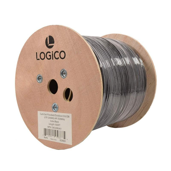 DIRECT BURIAL CABLE CAT6 4 PAIR FLOODED OUTDOOR 1000 FT