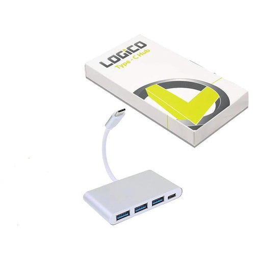 4-in-1 USB-C Hub Type C Multi-Port Charge & Connect Adapter 3x USB 3.0 (3839684968512)
