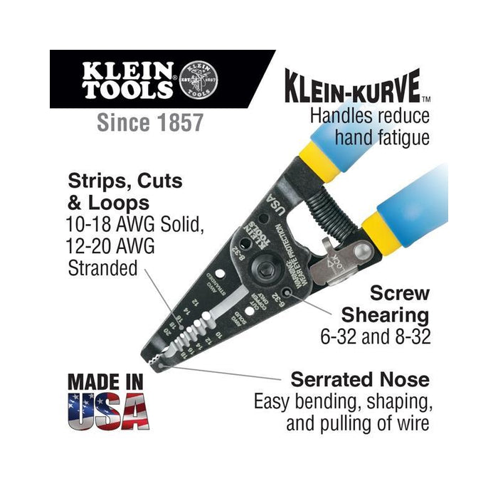 Klein Tools 11055 Stranded and Solid Copper Wire Cutter and Stripper (3839694929984)