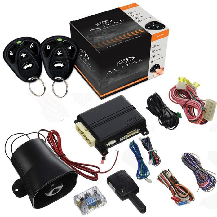 Avital 5105L 1 Way Car Security Alarm Remote Start System with D2D (3839721242688)