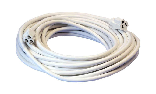 50 Feet White Heavy Duty Single Outlet Indoor Outdoor Extension Cord (3839723307072)