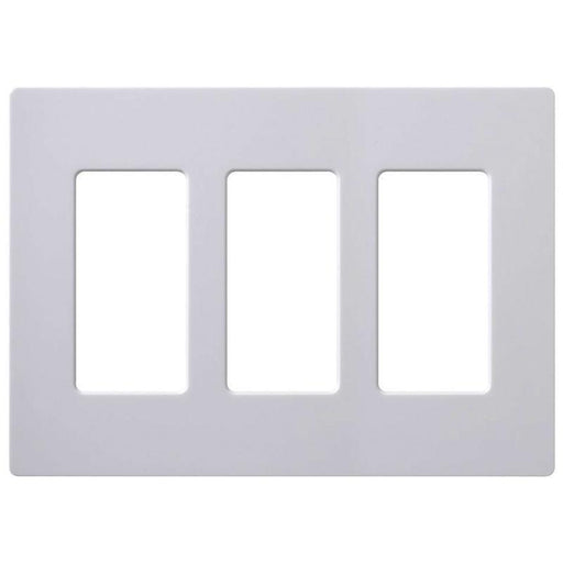 3-Gang Screwless Decorator Wall Plate GFCI Rocker Switch Outlet Cover White (Ea) (4176595877952)