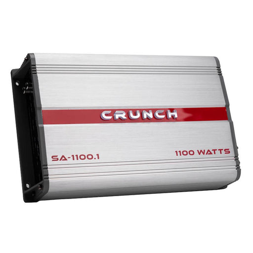 Crunch SA-1100.1 Amplifier Mono w/ Raptor R2AK8 8 Gauge Complete Amp Kit Combo