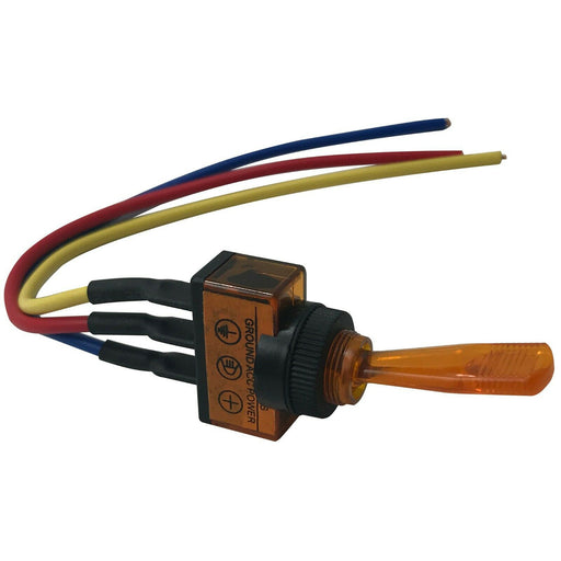 The Install Bay IBITSA Universal Pre Wired Toggle Amber Switch Package of 5