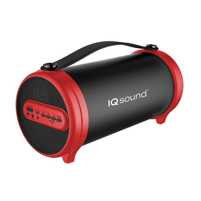 Supersonic IQ-1306BT Red Portable Speaker w/ Bluetooth/FM/USB/AUX IN