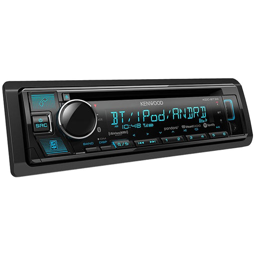 Kenwood KDC-BT33 Single-DIN CD Receiver with Bluetooth SiriusXM & FREE AUX Cable