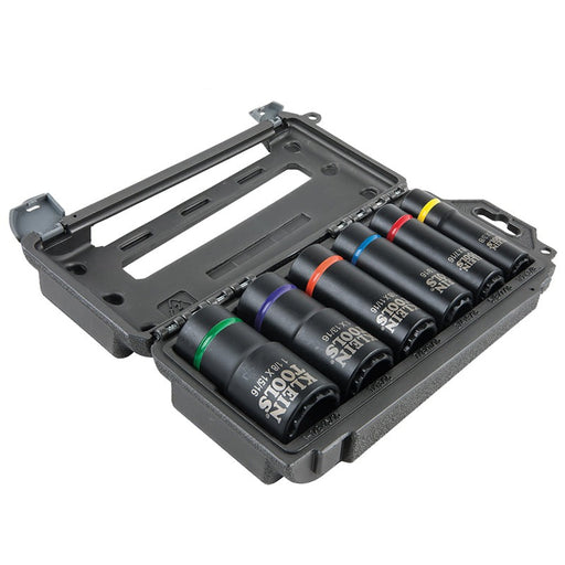 "Klein Tools 66010 Impact Socket Set High-Torque Deep Sockets 12-Point 1.5"" Drive (4169144238144)"