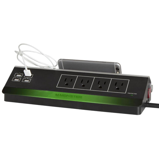 Monster Cable Power and Charging Station 4 Outlets Surge Protect w/ 4 USB ports (4346553237568)