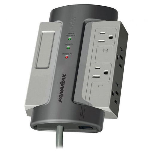 Panamax M4-EX 4 AC Outlet Surge Protector Noise Filtration 8 Feet Cord (3839724847168)