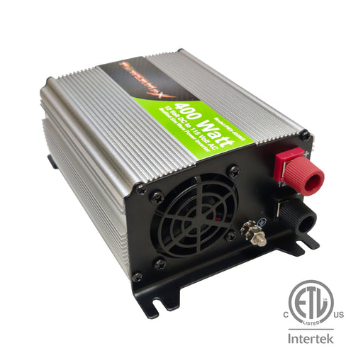 400W Power Inverter DC 12V to 110V AC Modified Sine Wave 2 Outlets Car Inverter with 2.1A USB Port