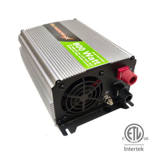 800W Power Inverter DC 12V to 110V AC Modified Sine Wave 2 Outlets Car Inverter with 2.1A USB Port