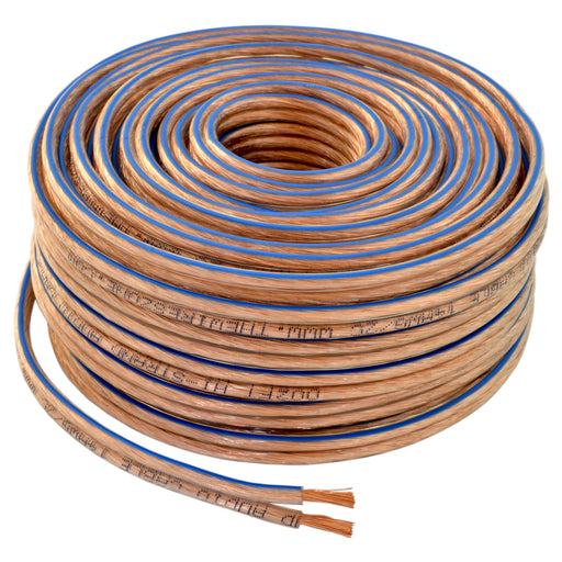 12 Gauge 2 Conductor 12/2 Clear 100ft Speaker Wire for Car/Home Audio