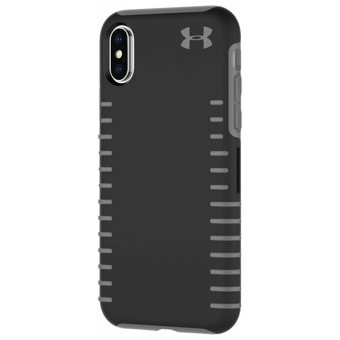 Under Armour UAIPH-011-BGR UA Protect Grip Series Hybrid Hard Case for Apple® iPhone® X and XS - Black/Graphite