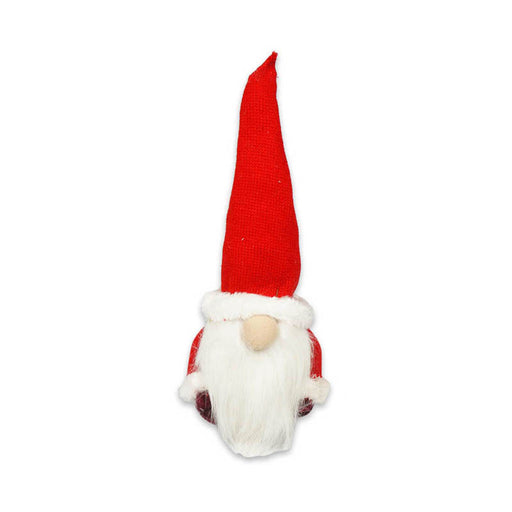 "13"" Holiday Christmas Red Standing Gnome Outdoor/Indoor Decoration"