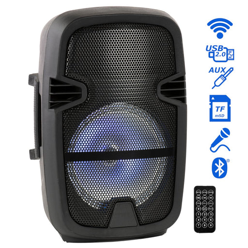 "Portable 8"" Bluetooth DJ Speaker 4500W Max Power PA Loudspeaker with LED, Remote (4326527500352)"